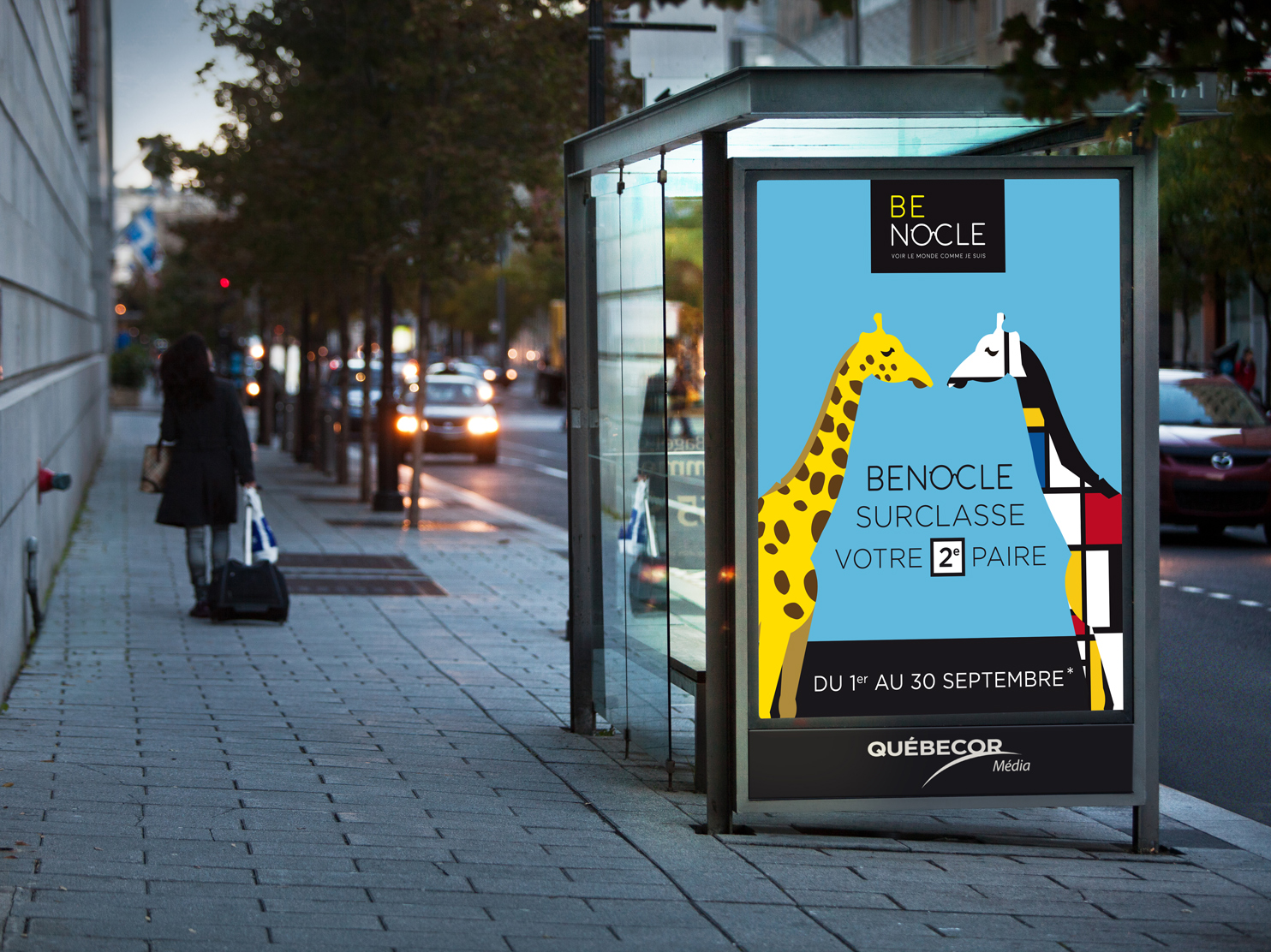 affiche girafes benocle